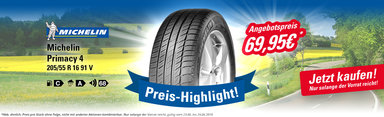 Unser Highlight: Michelin Primacy 4